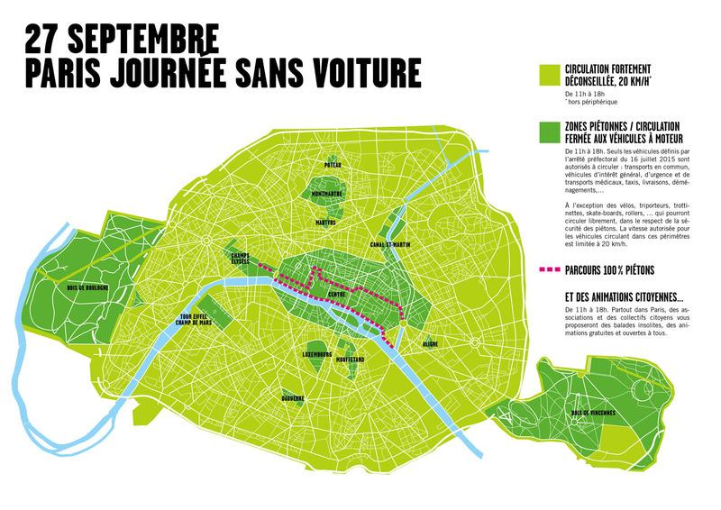 Paris: Une journée Sans Voiture