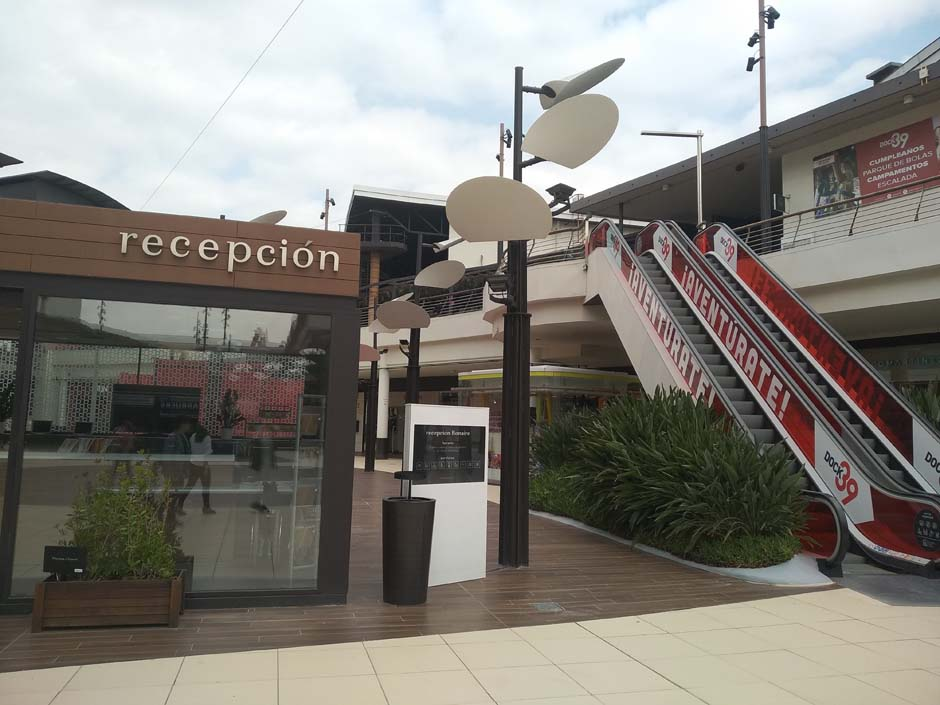 Recepció del centre comercial